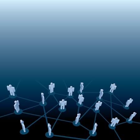 social issues: simbolico illustrazione vettoriale per affari e altre connessioni di persone Vettoriali