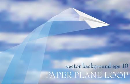 view from the plane: bucle de vector de avi�n de papel