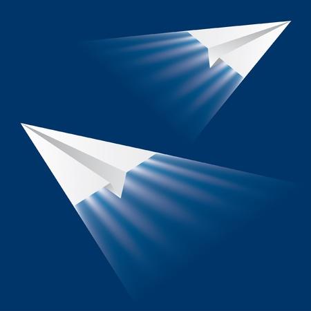 vector illustration of the jet paper planes Векторная Иллюстрация