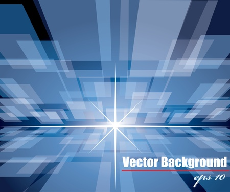 abstract cyber vector background with squares in perspective Vector