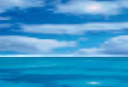 ilustración vectorial de la mar y cielo nublado Foto de archivo - 9410584