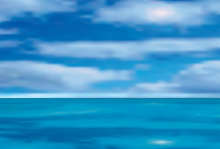 vector illustration of the sea and cloudy sky Vector