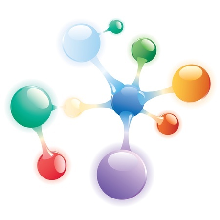 vector abstract molecule  Vector