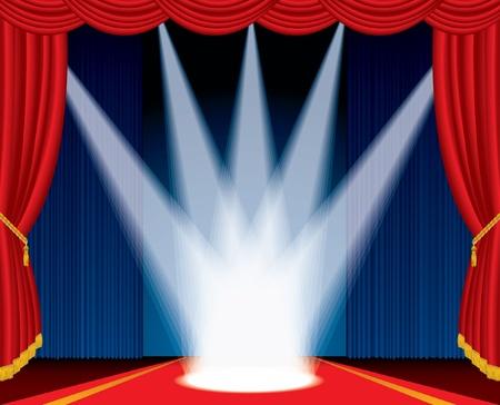 terciopelo azul: ilustraci�n vectorial de la etapa con focos como corona
