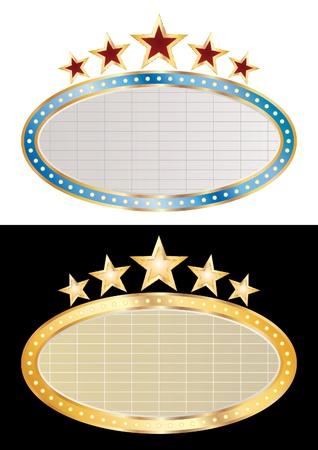 vector blank oval cinema displays Vector
