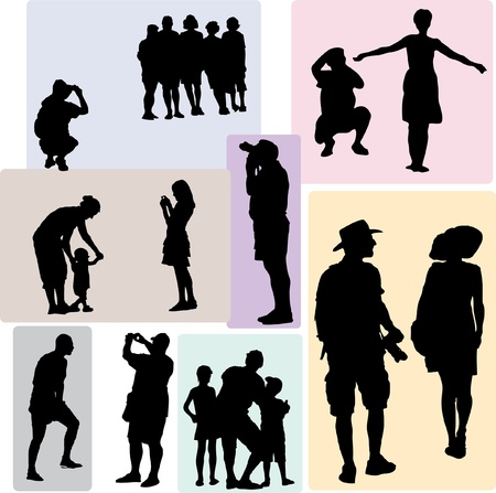 silhouette drawing of the photo sessions Illustration