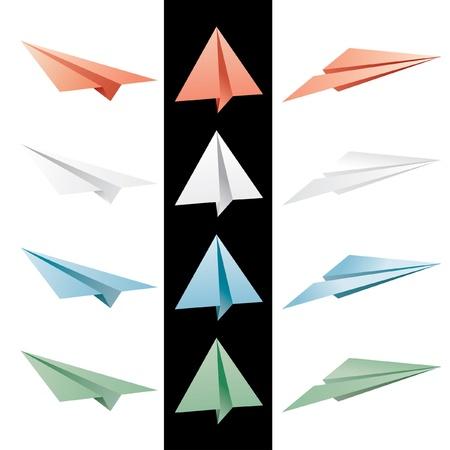set of vector paper planes Stock Vector - 10531951