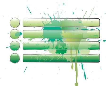 quadrant: vector green splash buttons