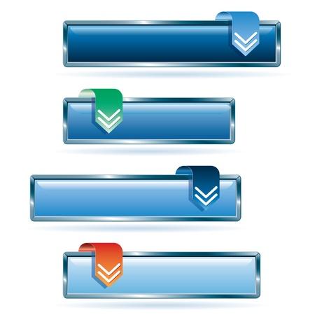 quadrant: blue download buttons Illustration