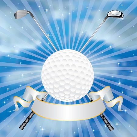 golf award in clouds Vector