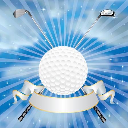 golf green: golf award in clouds