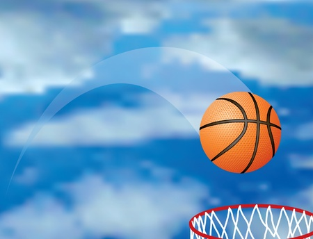 footy: vector basketball in air Illustration
