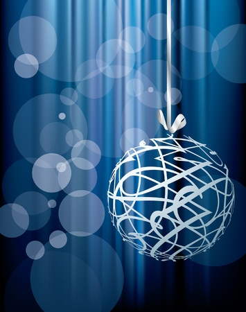 vector blue Christmas holidays background, layered and fully editable eps 10 file Stock Vector - 11032395