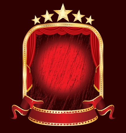 perforation: vector red grunge stage