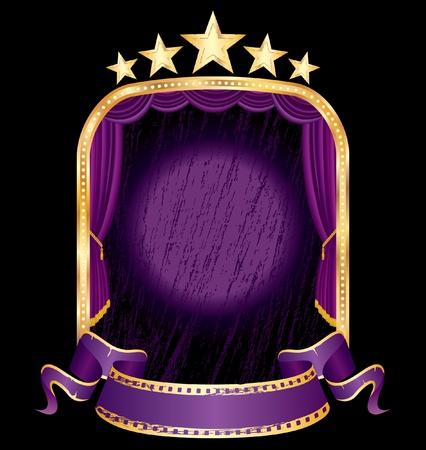 vector purple grunge stage Stock Vector - 11032400