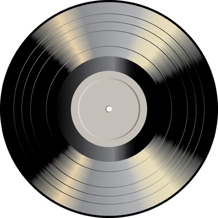 turntables: vector vinyl record Illustration