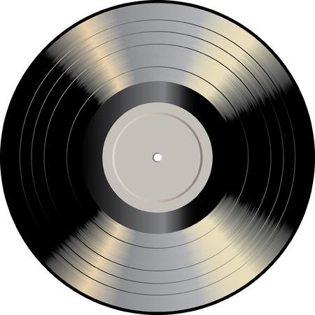 Vektor-Vinyl-Schallplatte