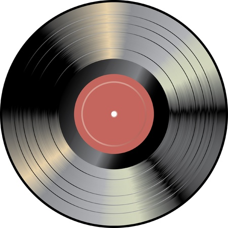 gramophone: vector vinyl record Illustration