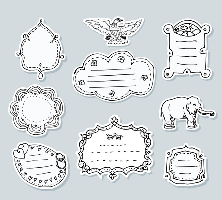 labels for various products Vector