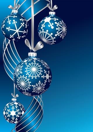 christmas template: vettore blu vuoto Cartolina di Natale Vettoriali