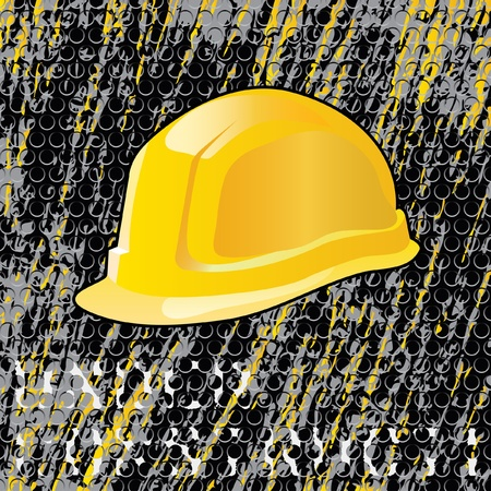 construction helmet: vector grunge under construction layout, layered and fully editable Illustration