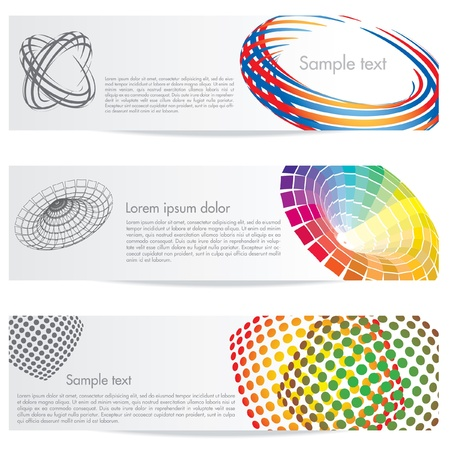 header image: vector abstract banners for web or print Illustration