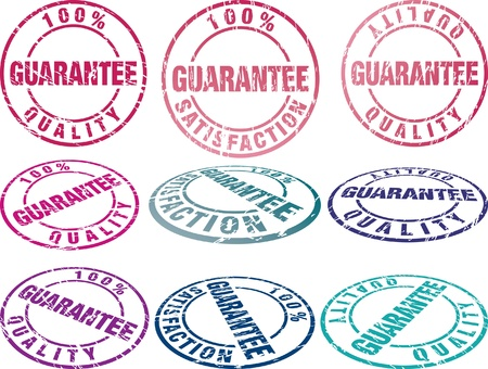 set of grunge vector rubber seals in different colors Stock Vector - 11371568