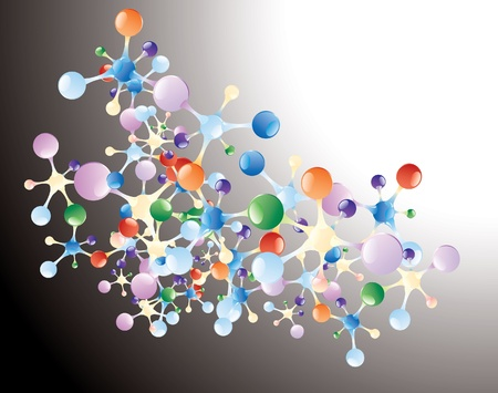 abstract vector background with molecules Stock Vector - 11779330