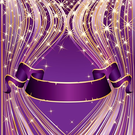 purple ribbon: vector purple blank background for holidays or celebration