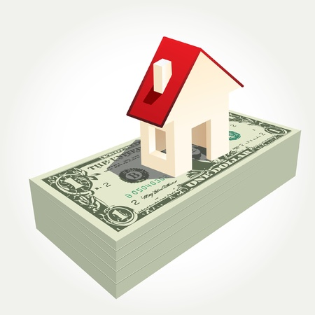 mansion: vector illustration of the house on dollars