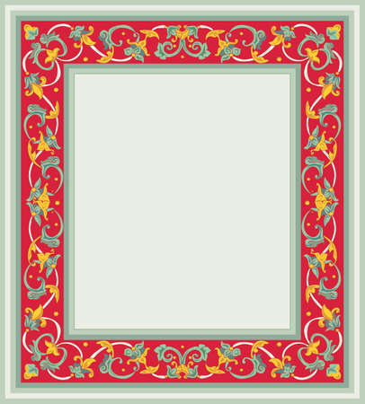 hand drawing of the ancient artistic frame Vector