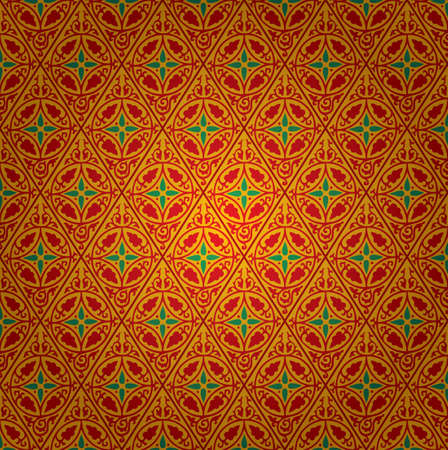 vector hand drawn seamless repeating floral wallpaper Vector