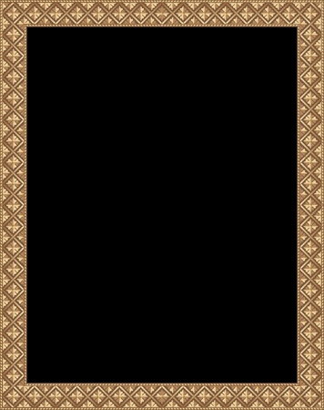 blank vector antique wooden frame Vector