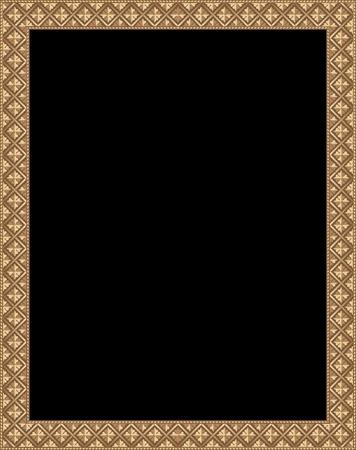 vintage photo frame: blank vector antique wooden frame