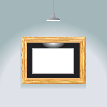 vector illustration of the empty frame and spotlight Vector
