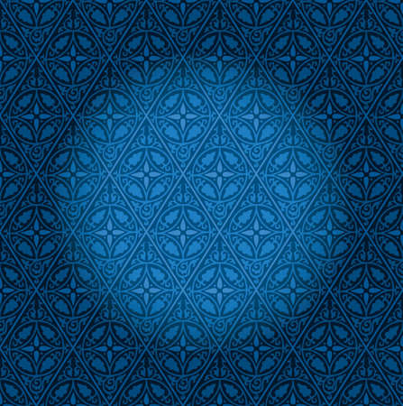 spotlight on blue vintage wallpaper Stock Vector - 12406929