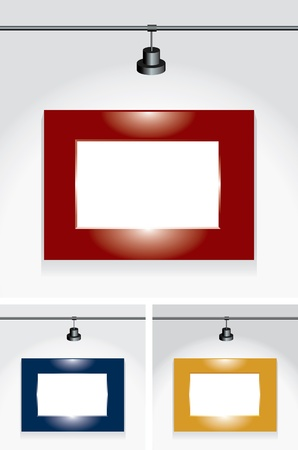 vector set of blank shiny frames Vector