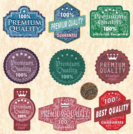 vintage labels with grunge stone texture Vector