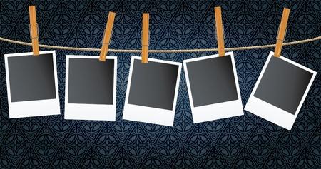 appendere: foto vettore bianco su corda oltre scuro carta da parati dell'annata