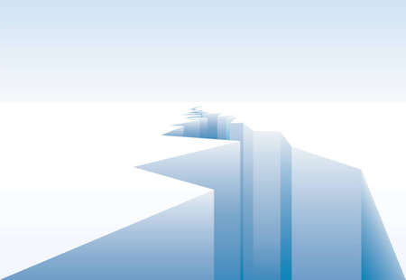 glacial: vector background for global warming with ice crack