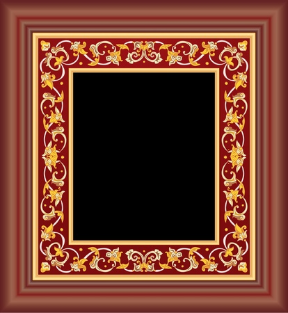 vector hand drawing of the ancient artistic frame Vector