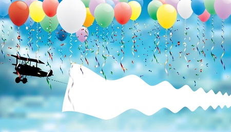 balloon border: background for birthday or other message Illustration