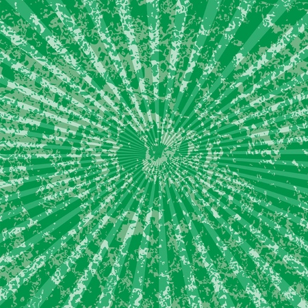 centered: vector grunge geen rays background
