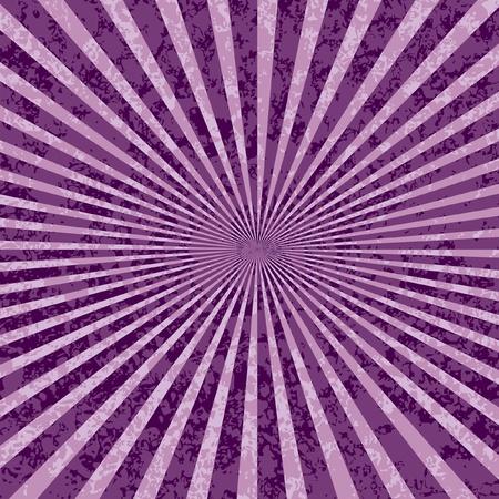 radiate: vector purple rays abstract grunge background Illustration