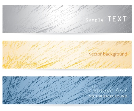 three abstract headers with grunge texture