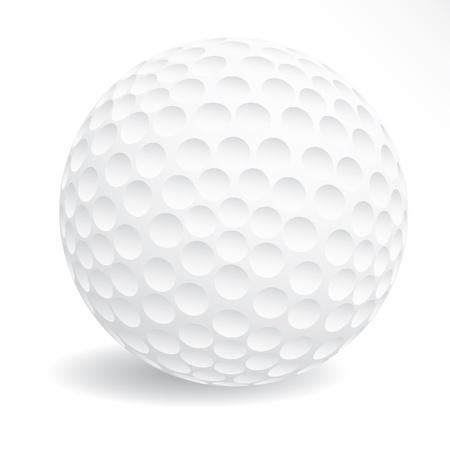 shadow match: vector illustration of the white golf ball