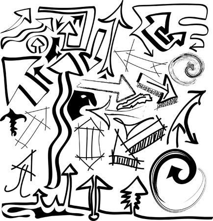hand drawn vector arrows Vector
