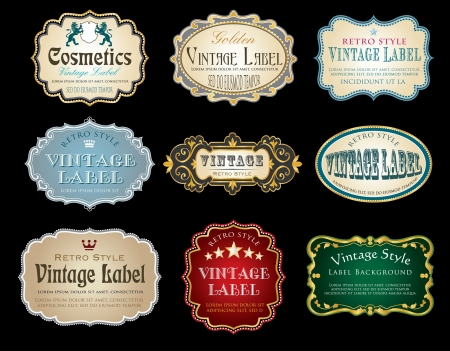 vintage labels with sample text Vector