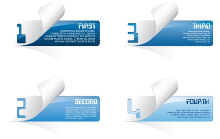 web page elements: set of vector blue perforated backgrounds Illustration