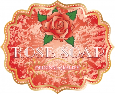 vintage style label for soap Vector